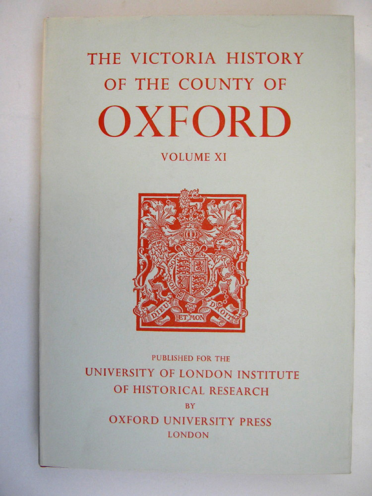 Image for A HISTORY OF THE COUNTY OF OXFORD, VOLUME XI: Wootton Hundred (Northern Part), (Victoria County History) :