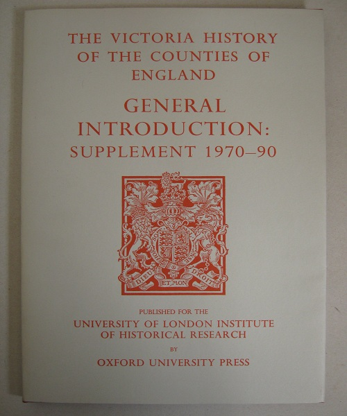 Image for General Introduction :Supplement 1970-90 (The Victoria History of the Counties of England)