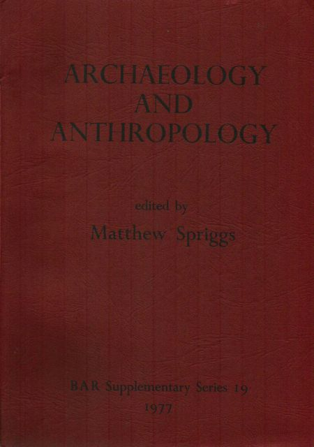 Image for ARCHAEOLOGY AND ANTHROPOLOGY: Areas of Mutual Interest, :