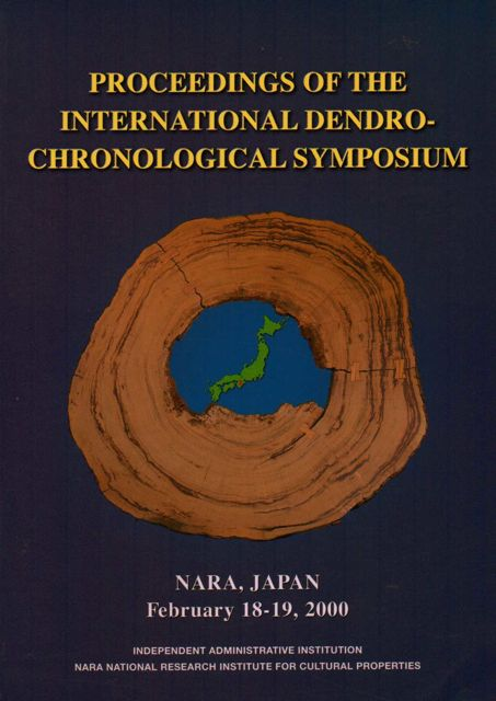 Image for PROCEEDINGS OF THE INTERNATIONAL DENDROCHRONOLOGICAL SYMPOSIUM, Nara, Japan, February 18-19, 2000, :