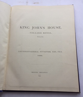 Image for KING JOHN'S HOUSE, Tollard Royal, Wilts  :