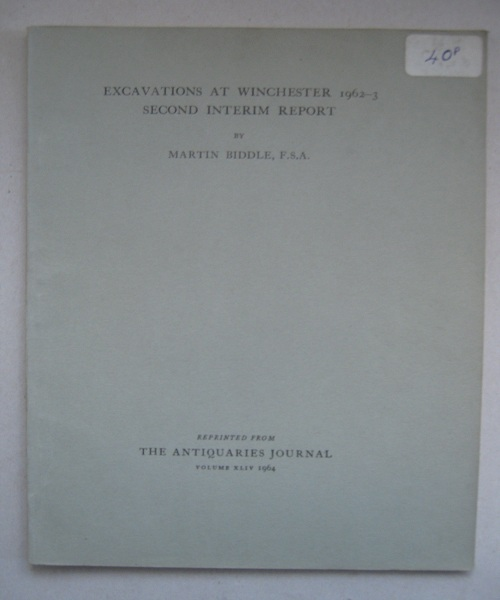 Image for Excavations at Winchester 1962-3: second interim report :