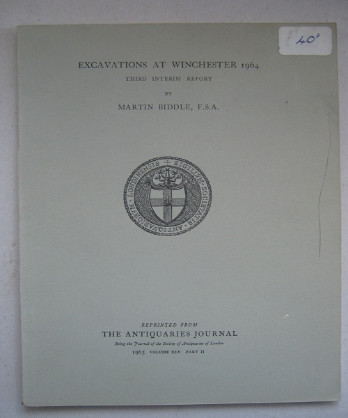 Image for Excavations at Winchester 1964: third interim report :