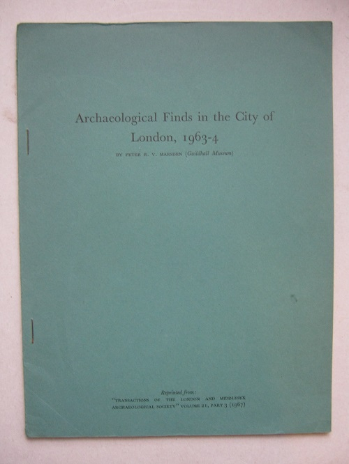Image for Archaeological Finds in the City of London, 1963-4 :