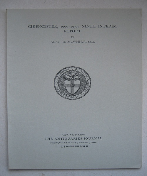 Image for Cirencester, 1969-1972: ninth interim report :
