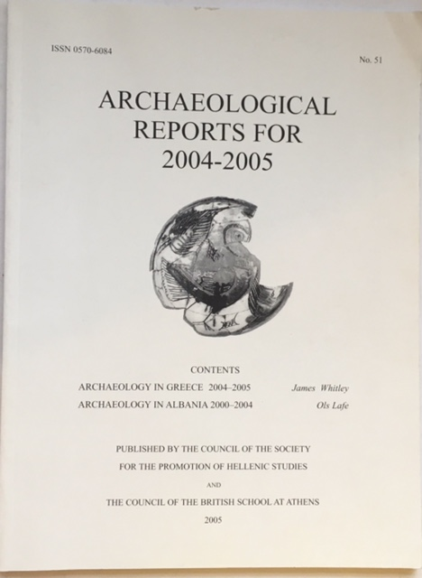 Image for Archaeological reports for 2004-2005, no. 51 :