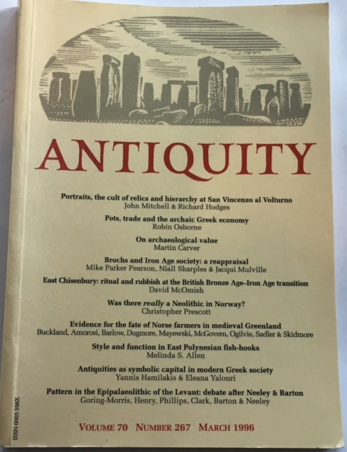 Image for Antiquity Vol. 70 No. 267 March 1996 :