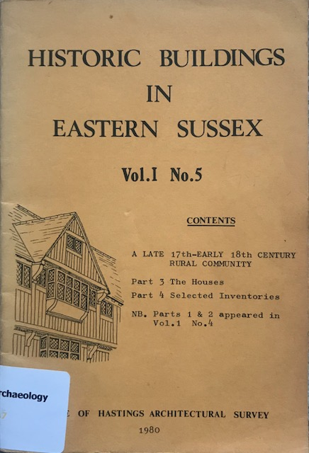 Image for Historic buildings in eastern Sussex Vol 1 No. 5 :