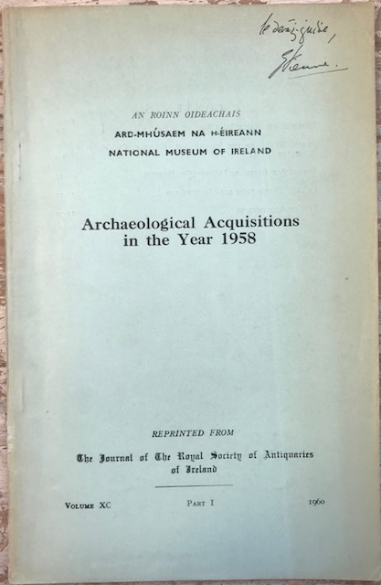 Image for National Museum of Ireland, archaeological acquisitions in the year 1959 :