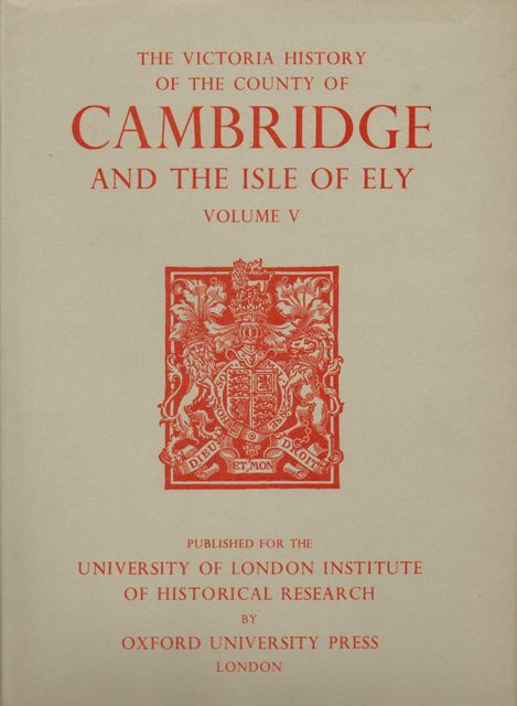 Image for A HISTORY OF THE COUNTY OF CAMBRIDGE AND THE ISLE OF ELY, VOLUME V (Victoria County History),  :