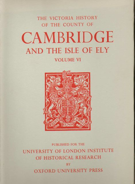 Image for A HISTORY OF THE COUNTY OF CAMBRIDGE AND THE ISLE OF ELY, VOLUME VI (Victoria County History),