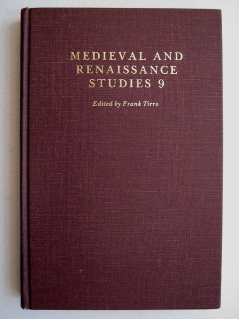 Image for MEDIEVAL AND RENAISSANCE STUDIES 9: Proceedings of the Southeastern Institute of Medieval and Renaissance Studies, Summer, 1978, :