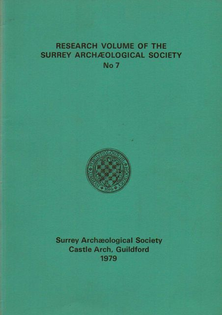 Image for Research Volume of the Surrey Archaeological Society No. 7 :