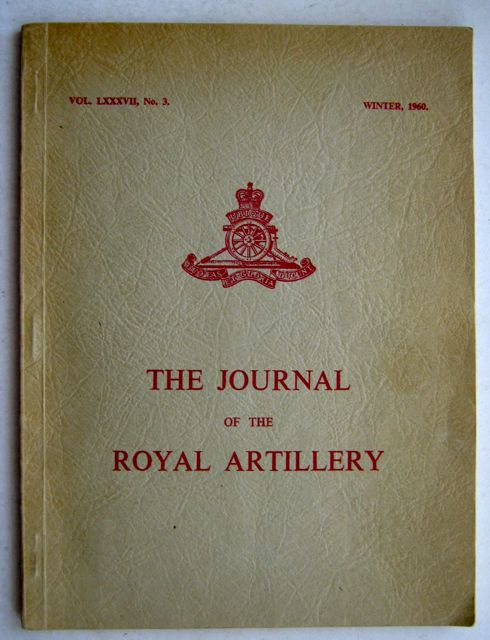 Image for JOURNAL OF THE ROYAL ARTILLERY Vol LXXXVII no 3, :