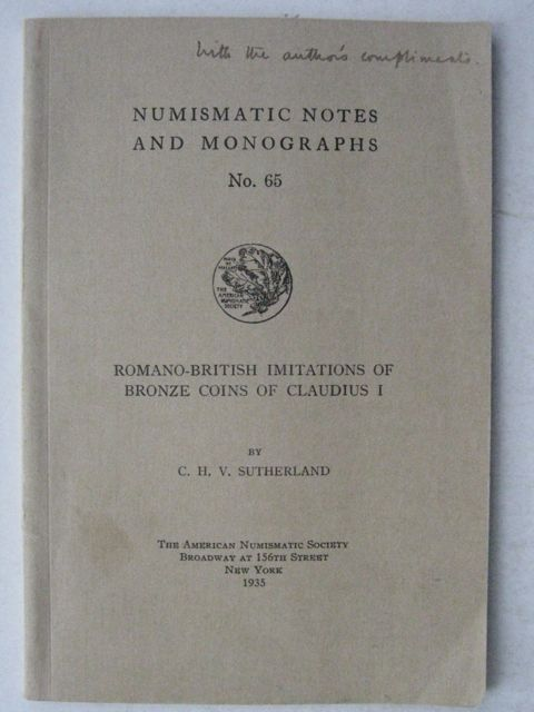 Image for ROMANO-BRITISH IMITATIONS OF BRONZE COINS OF CLAUDIUS I, Numismatic Notes and Monographs no 65, :