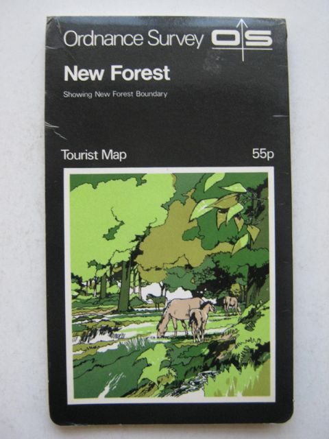 Image for New Forest, :Showing New Forest Boundary, Tourist Map