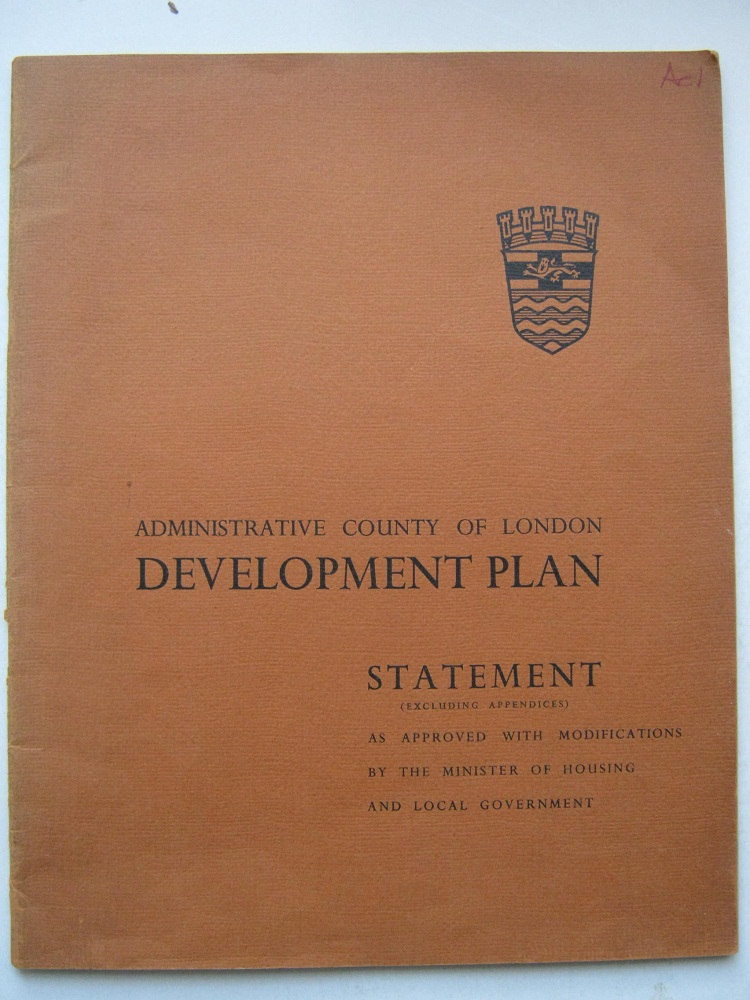 Image for Administrative County of London Development Plan, Statement