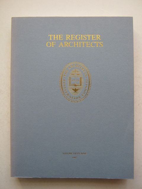 Image for The Register of Architects, :Volume 59