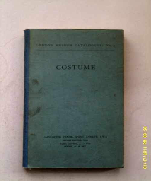 Image for Costume, :London Museum Catalogues: No. 5