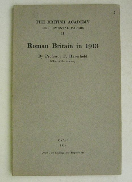 Image for ROMAN BRITAIN IN 1913 (The British Academy Supplemental Papers II)   :