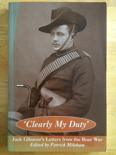 Image for Clearly My Duty :The Letters of Sir John Glimour from the Boer War 1900-1901