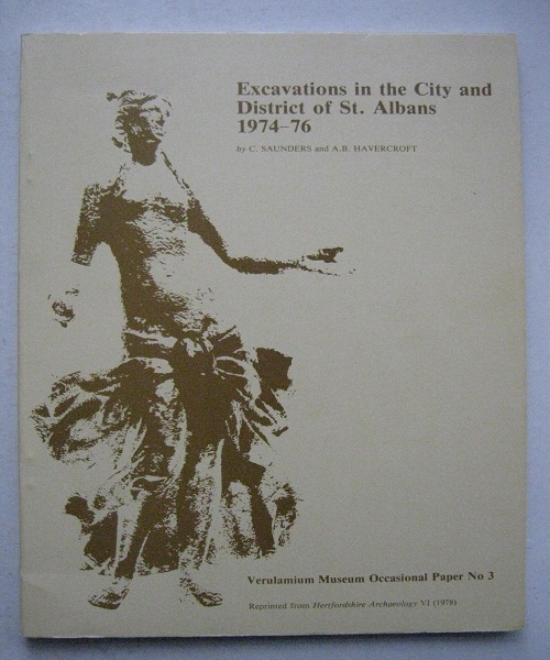 Image for Excavations in the City and District of St. Albans 1974-76 :Verulamium Museum Occasional Paper No. 3