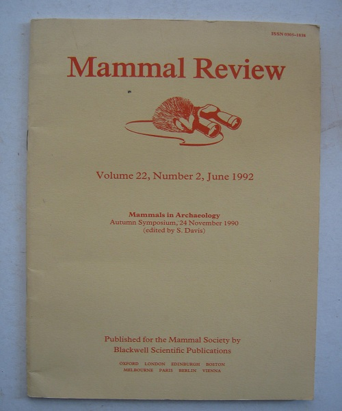 Image for Mammal Review, :Volume 22, Number 2, June 1992