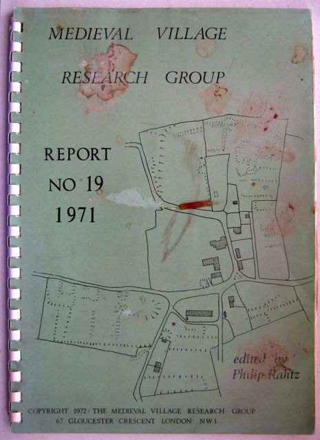 Image for Medieval Village Research Group :Report No. 19 1971