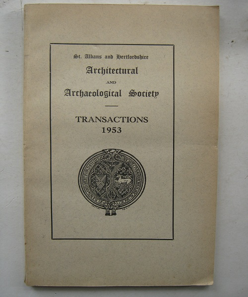 Image for St. Albans and Hertfordshir Architectural and Archaeological Society :Transactions 1953