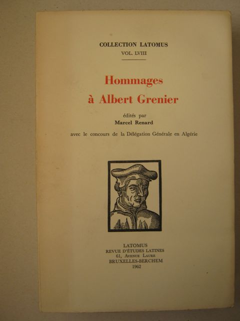 Image for Hommages à Albert Grenier (3 vols) :Collection Latomus Vol LVIII