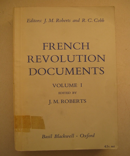 Image for French Revolution Documents, Volume I :