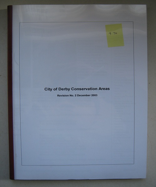 Image for City of Derby Conservation Areas :Revision No. 2 December 2003
