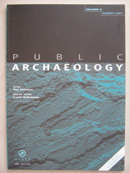 Image for Public Archaeology :Volume 6, Number 3, Autumn 2007