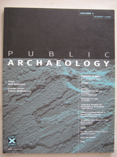 Image for Public Archaeology :Volume 1, Number 1, 2000