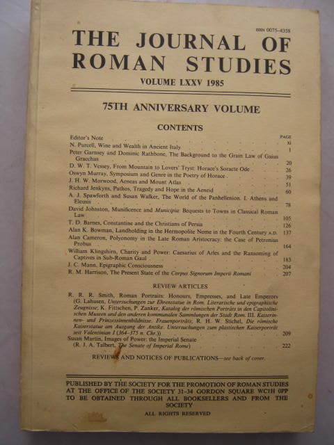 Image for The Journal of Roman Studies, Volume LXXV :