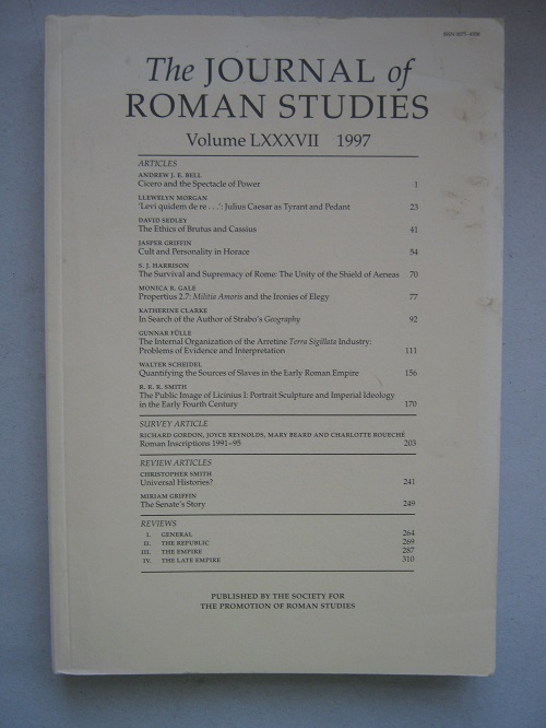Image for The Journal of Roman Studies, Volume LXXXVII :