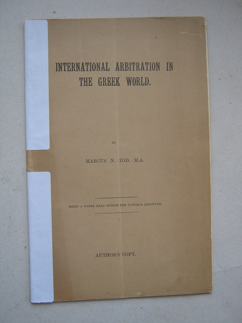 Image for International Arbitration in the Greek World :