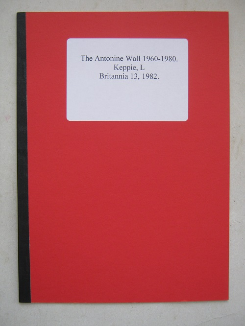 Image for The Antonine Wall 1960-1980 :