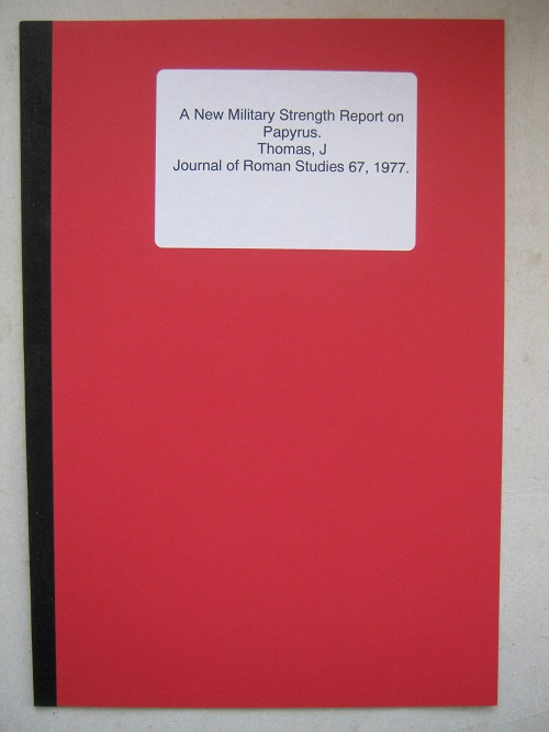 Image for A New Military Strength Report on Papyrus :