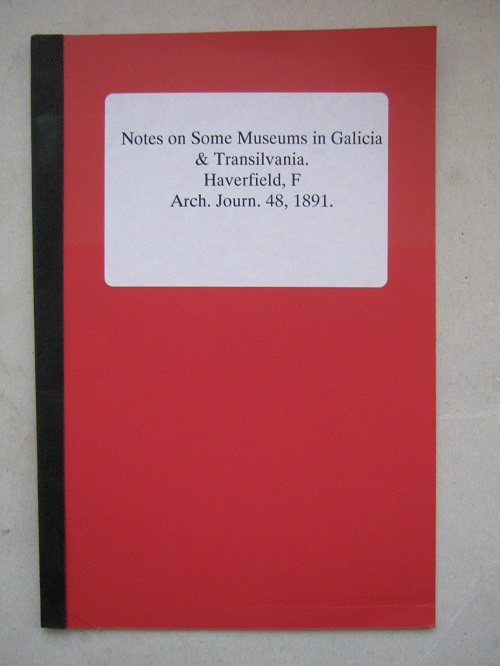 Notes on some museums in Galicia & Transilvania :