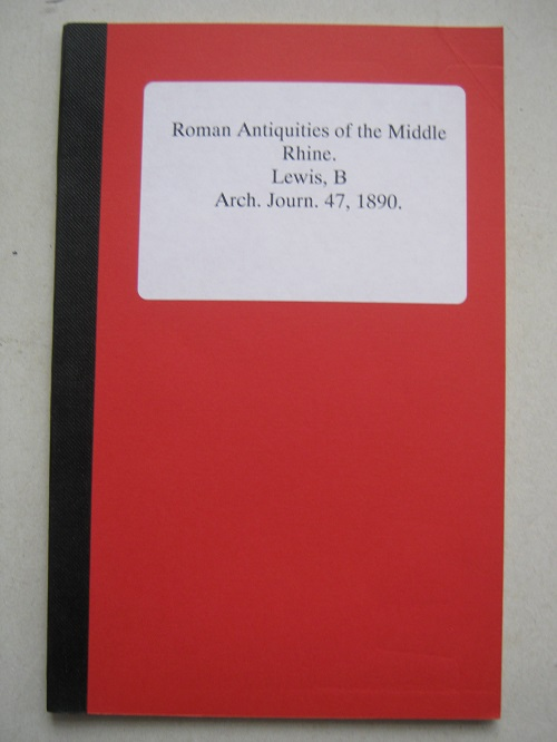 Image for Roman Antiquities of the Middle Rhine :