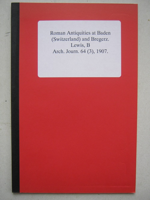 Image for Roman Antiquities at Baden (Switzerland) and Bregerz :