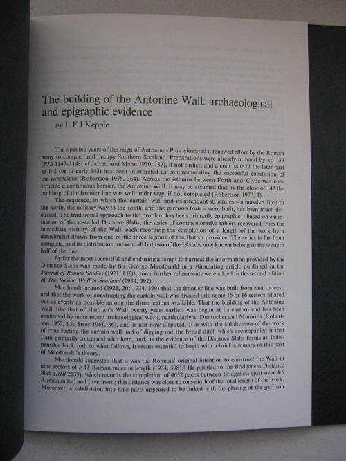 Image for The building of the Antonine Wall :archaeological and epigraphic evidence