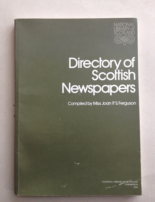Image for Directory of Scottish Newspapers :