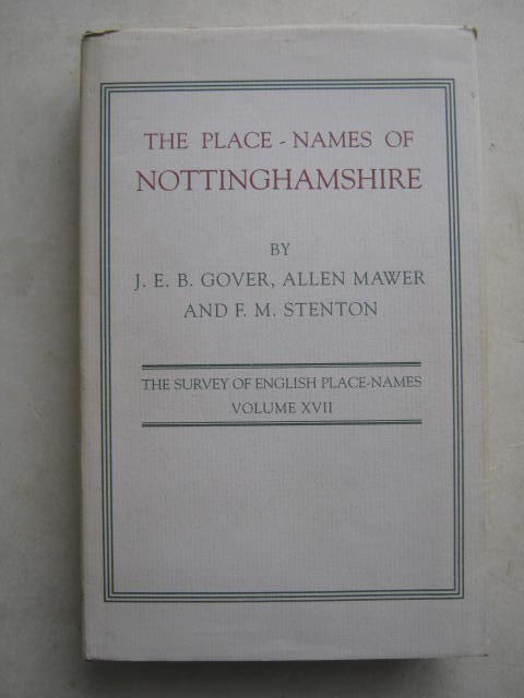 Image for The place-names of Nottinghamshire :(English Place-name Society Vol XVII)