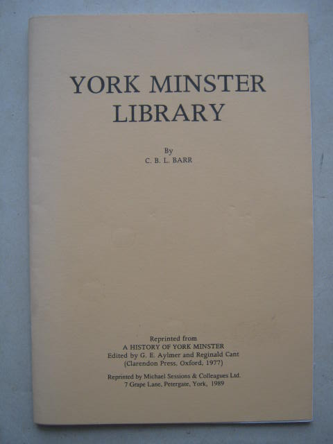 Image for York Minster Library :