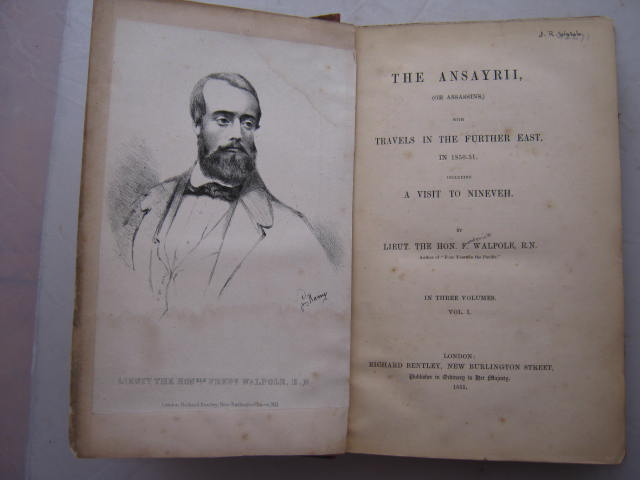 Image for The Ansayrii (or Assassins) (3 volumes) :with travels in the further East, in 1850-51, including a visit to Nineveh