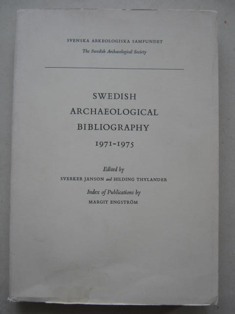 Image for Swedish Archaeological Bibliography 1971-1975 :