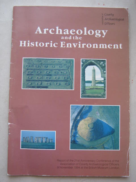 Image for Archaeology and the Historic Environment :Frameworks for the Future