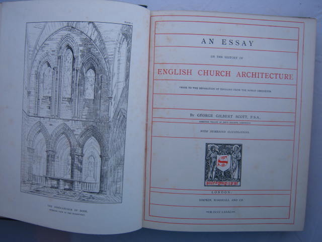 Image for An essay on the history of English church architecture :prior to the separation of England from the Roman obedience